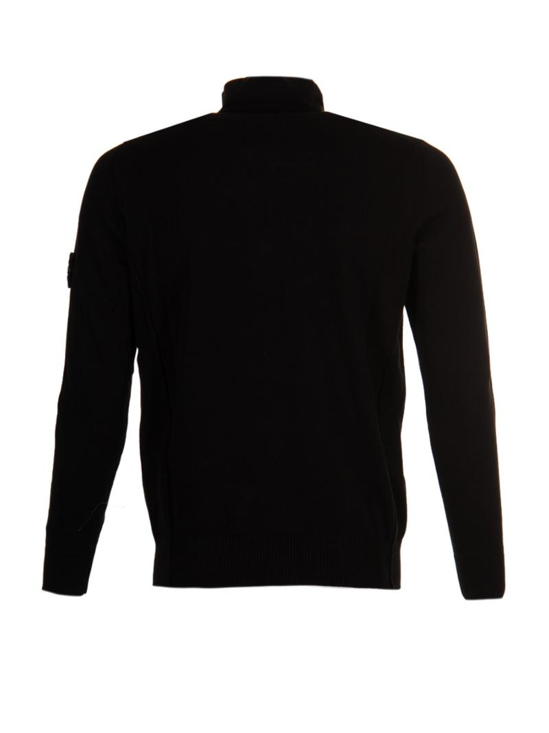 Stone Island 7015519B2 V0029 BLACK Knitwear Zwart Amsterdam