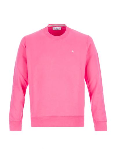 Stone Island Trui Logo Badge Sweater 711562720 roze